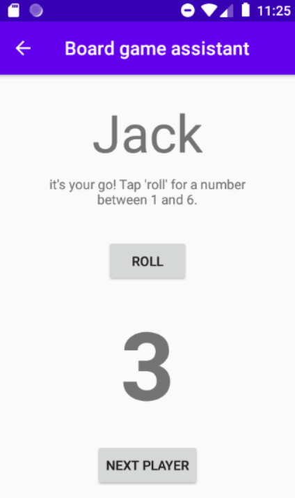 Boardgame assistant app screenshot